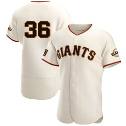 Gaylord Perry San Francisco Giants Men's Authentic Home Jersey - Cream