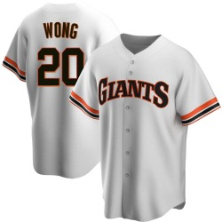 Kean Wong San Francisco Giants Men's Replica Home Cooperstown Collection Jersey - White