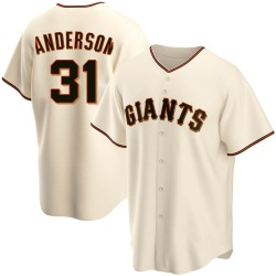 Tyler Anderson San Francisco Giants Youth Replica Home Jersey - Cream