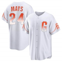Willie Mays San Francisco Giants Youth Replica 2021 City Connect Jersey - White
